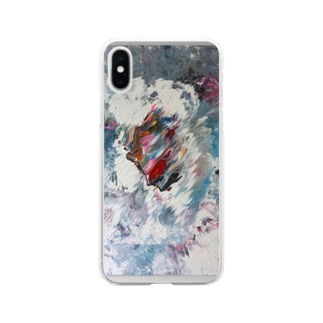 Side Face 001 Soft Clear Smartphone Case