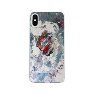 Side Face 002 Soft Clear Smartphone Case