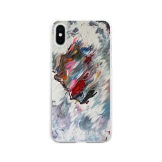 Side Face 003 Soft Clear Smartphone Case