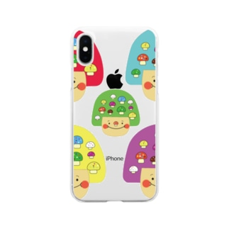mushgirl Soft clear smartphone cases