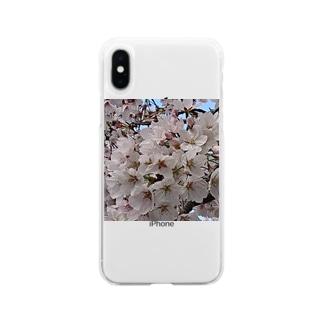 桜いっぱい Soft clear smartphone cases