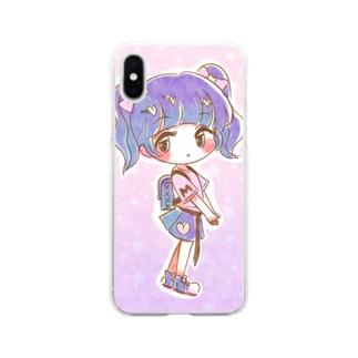 キラキラ・ほしふる Soft clear smartphone cases