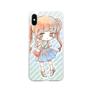 キラキラ・ソーダ Soft clear smartphone cases