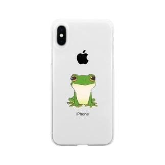 猫キャラクター・シルエット・取りたい Soft clear smartphone cases