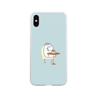 こぐまとはむ プリン Soft clear smartphone cases