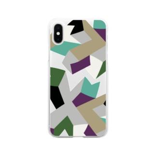 ソフトクリア スマホケース/d_007(トリミングシリーズ) Soft clear smartphone cases