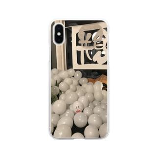 もちつもたれつ Soft clear smartphone cases