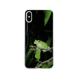 モリアオガエルさん Soft clear smartphone cases