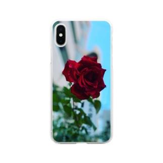 そこら辺のバラ Soft clear smartphone cases