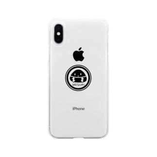 めぐり屋さんのめぐりロゴ Soft clear smartphone cases