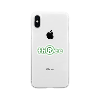 three LOGO NEON ForestGreen Soft clear smartphone cases