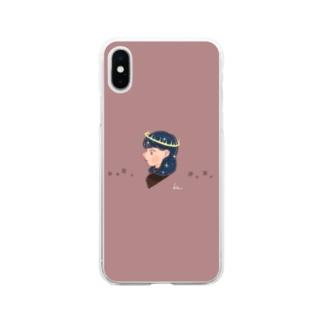 星の女神 Soft clear smartphone cases