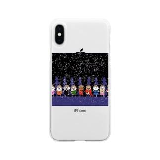 マーベルドッグス笠地蔵 Soft clear smartphone cases
