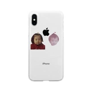 透過したらボディが消えた幼きレズ  Soft clear smartphone cases