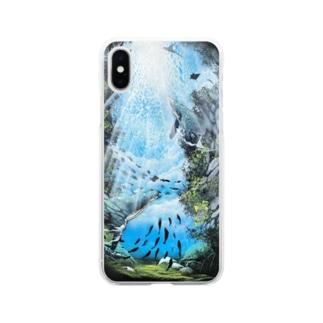 空と海 Soft clear smartphone cases