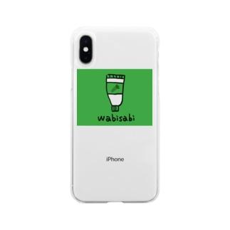 小林ゴリラのわびさびわさび Soft clear smartphone cases