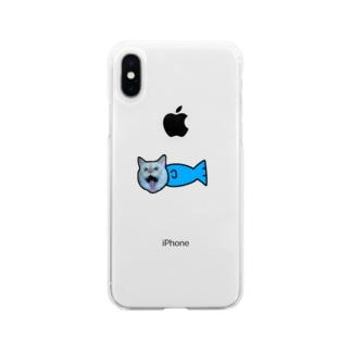 まりうお Soft clear smartphone cases