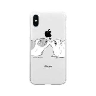 モルモット001 Soft clear smartphone cases