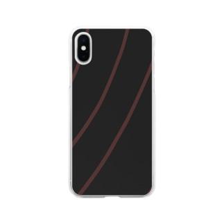 波動 Soft clear smartphone cases