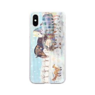 きつねとうま Soft clear smartphone cases