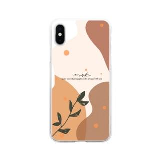 ボーホーナチュラルスタイル Soft clear smartphone cases