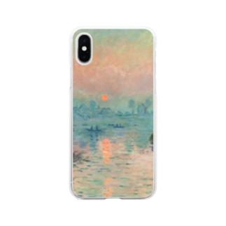 印象派 クロード・モネ 絵画プリント  Soft clear smartphone cases