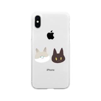ねこず Soft clear smartphone cases