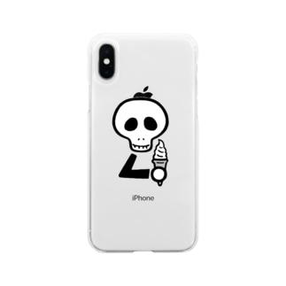 スカルンバ( ソフトクリーム) Soft Clear Smartphone Case