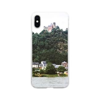 ドイツ:シェーンブルク城 Germany: Schönburg am Rhein Soft clear smartphone cases