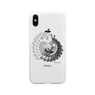 うずまきのユキヒョウ Soft clear smartphone cases