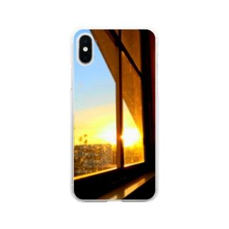 窓の向こう Soft Clear Smartphone Case