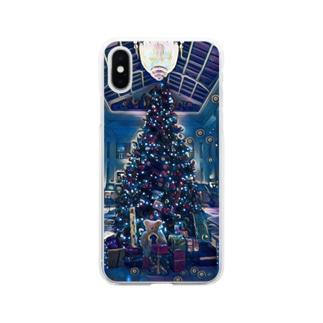 [アート風]クリスマスの魔法 Soft clear smartphone cases