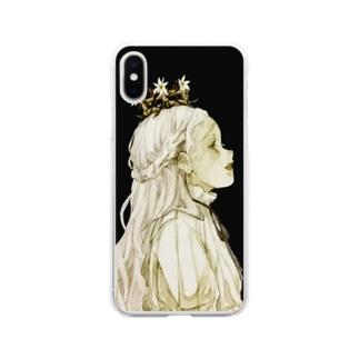 偽りの王冠 Soft clear smartphone cases