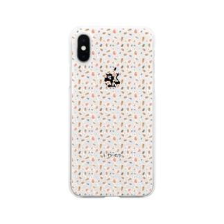 さらにミジンコがいっぱい Soft clear smartphone cases