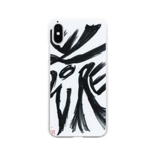 障がい者アート「花-FLOWER-」 Soft clear smartphone cases