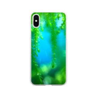 美しい水草 Soft clear smartphone cases