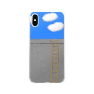 見える物 Soft Clear Smartphone Case