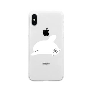 クマアザラシ#3 Soft clear smartphone cases