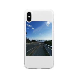 あの夏のあの下り坂 Soft clear smartphone cases