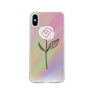 Rock Style Hero Originの世紀末に咲く一輪の薔薇 Soft clear smartphone cases