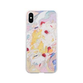 過剰 Soft clear smartphone cases