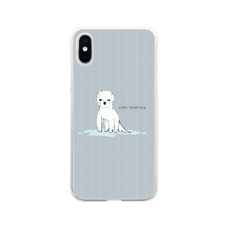after bathing(gray) Soft clear smartphone cases
