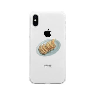 焼き餃子 Soft clear smartphone cases