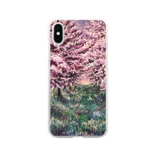 りんごの並木道 Soft clear smartphone cases