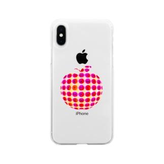 YAYOI.channel の林檎とアップル ~はんぐるde林檎~ キュートバージョン Soft clear smartphone cases