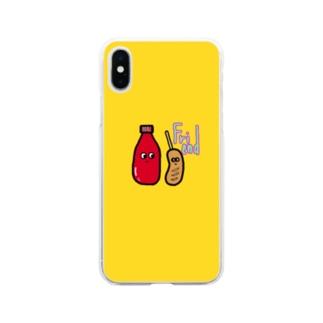 フレンド スマケー イエロー Soft clear smartphone cases