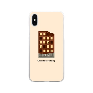 Chocolate building(beige) Soft clear smartphone cases