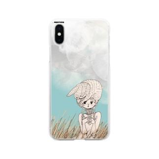 寒い朝 Soft clear smartphone cases