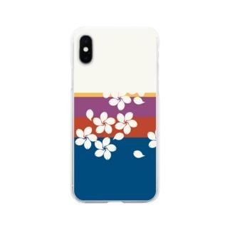 花札 Soft clear smartphone cases