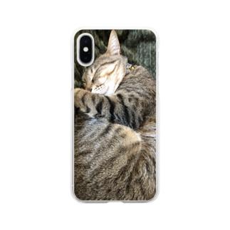 キジトラ ハルさん Soft clear smartphone cases